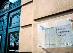 Psykologerne Johansen & Kristoffersen indgangen til vores praksis