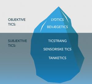 Model der viser objektive- og subjektive tics