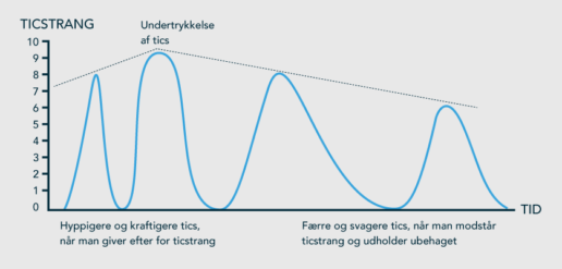Model der viser Ticstrang / tid